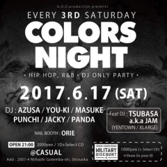 6/17-sat- COLORS NIGHT vol.163