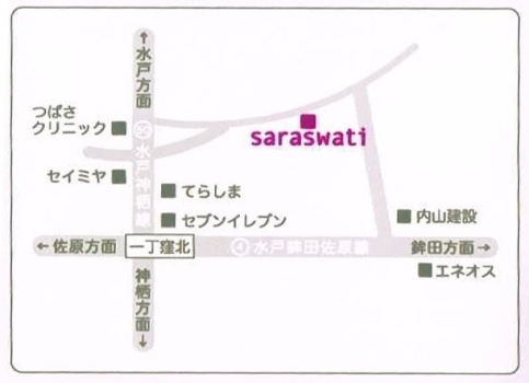 「hair spa salon Saraswati」の地図