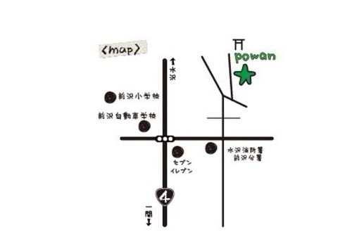 「hairdesign & gallery powan(ポワン)」の地図