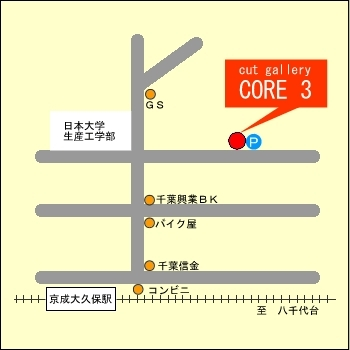 「cut gallery CORE 3」の地図