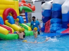 思いっきり水遊び『viva square kyoto キッズウォーターパーク』夏季限定open!【梅小路公園】