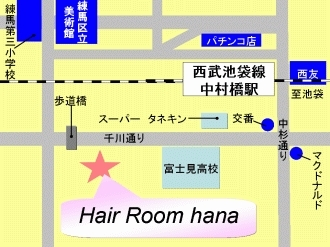 「Hair Room hana」の地図