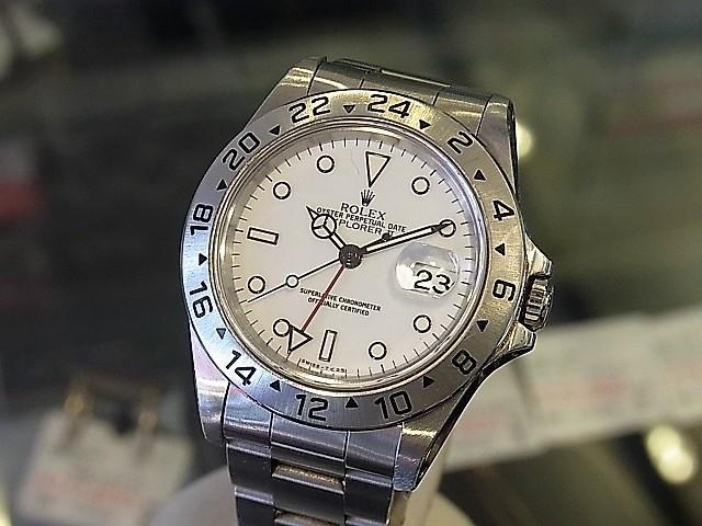 low priced 48f19 5ed73 ロレックス エクスプローラーⅡ 16570 白文字盤 メンズ腕時計 ...