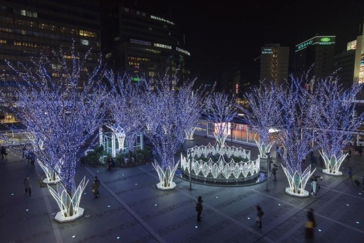 【JR博多駅前広場】光の街・博多