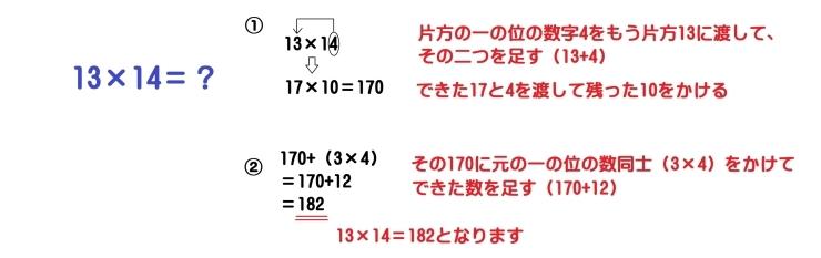 19×19までの掛け算を解こう!掛け算の裏技、こうすれば簡単!