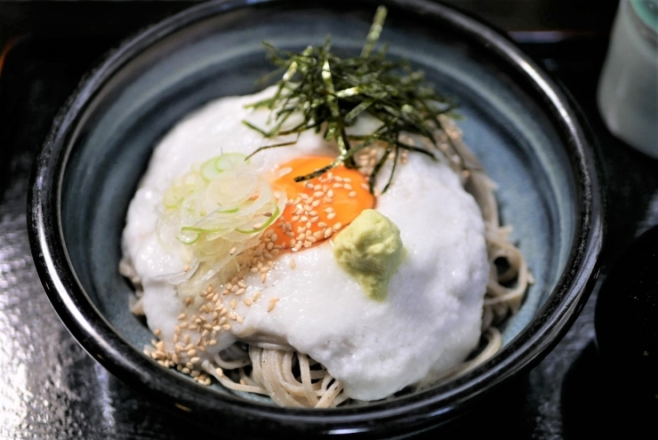 麺元 田舎家【わさび山かけ蕎麦】