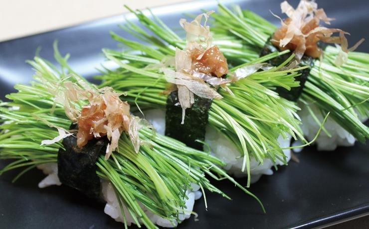 ネギ 寿司 芽