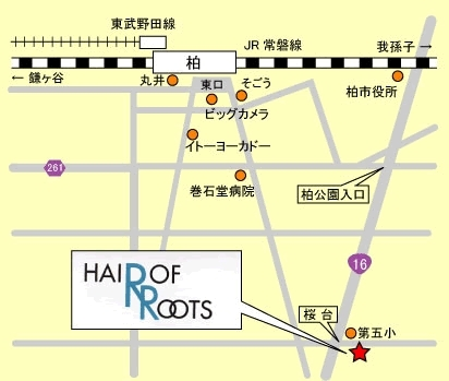 「HAIR OF ROOTS ヘア オブ ルーツ」の地図