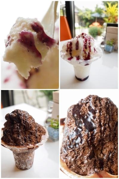 諏訪の森 Cafeのスノーアイス