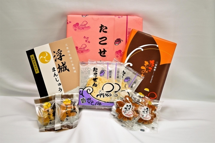 【たこせん・たこもみじ・浮城まんじゅう】和洋菓子 ゑびす家