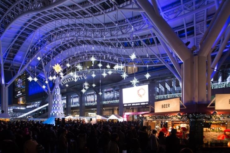 【JR博多駅前広場】クリスマスマーケットin光の街・博多
