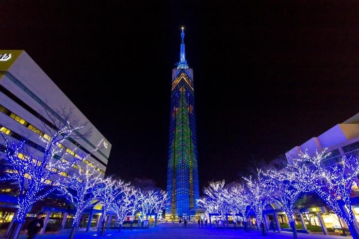 【福岡タワー】ももち☆ブルーライトイルミネーション2017