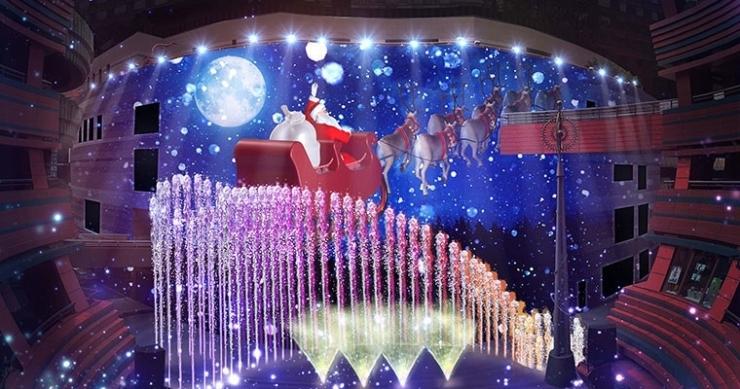 【キャナルシティ博多】クリスマス限定 パノラマ『Christmas Panorama~Santa Claus is coming to canal~』